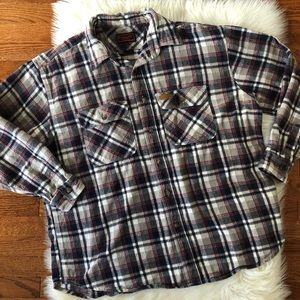 Five Brother Flannel Plaid Button Up Workwear 2XL
